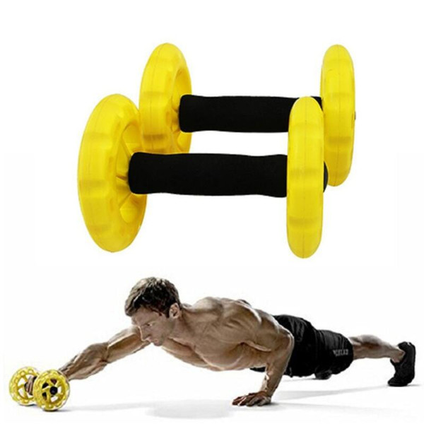 New Crossfit Abdominal Ab Roller Trainer Body-building Ab Wheels Core Waist Exerciser Fitness Equipment For Home Free Shipping