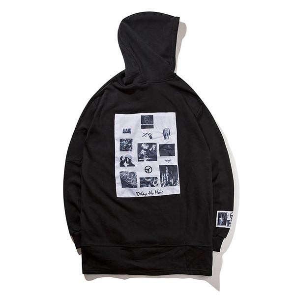 Hoodie Male Sweatshirt Men Skateboard Tracksuit Hip Hop Clothing Oversized Kanye West Tiger Printed Swag Hoodies
