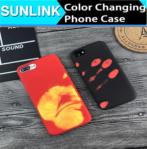 Handyhülle Htc One Luxus Temperatur Empfindliche Verfärbungs Fall Gradient ändern Farbe Soft Cover Coque Matt Weichen Telefon Fällen Für Iphone 7