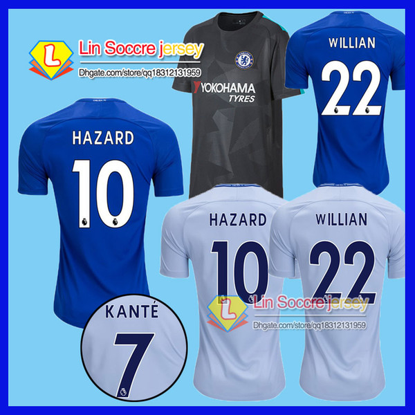 promo code 0def6 1d6c4 2019 17 18 Chelsea HAZARD MORATA Soccer Jersey 2017 2018 Home Blue PEDRO  PATO ZOUMA WILLIAN KANTE DIVAD LUIZ FABREGAS Chelsea Soccer Shirts From ...
