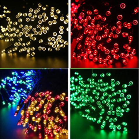 LED Solar String Lights 5200cm 500pcs Light-spot Lamps House Garden Festival Illuminazione Impermeabile Outdoor Decorazioni Casa Paesaggio Indoor