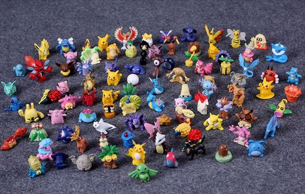 97 pcs/lot Action Figures Toys Cartoon Anime Mixed 2-3cm Pikachu Figures Toys For Kids Gift