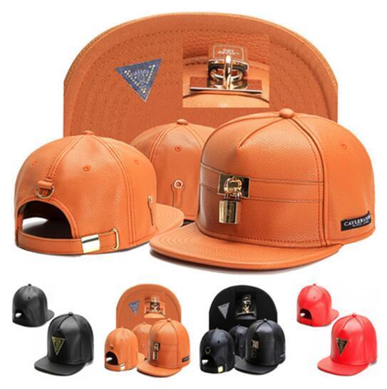 2017 Yağma marka Cayler Sons kahverengi Deri Snapback hip hop spor beyzbol şapkası baba şapka erkekler kadınlar için snapbacks kemik gorras yüksek kalite