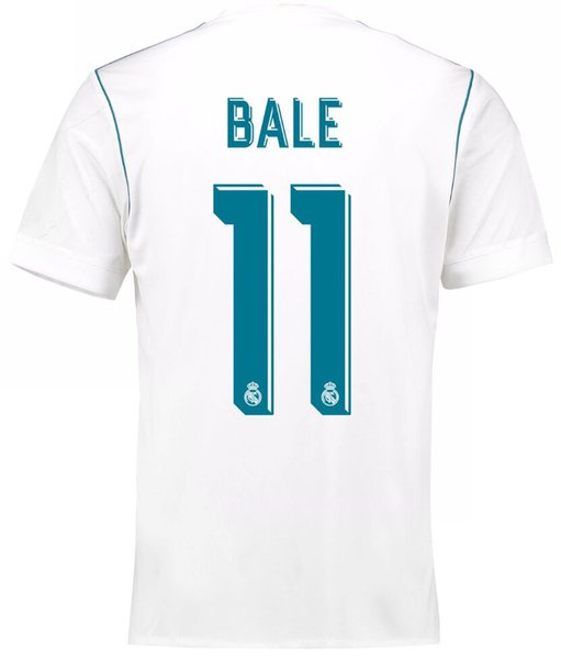 Bale | 2018 Fifa World Cup | Real Madrid Jersey - Home or Away | White Blue or Black | Plain, Player-promoting or Personalized --- Complete Customizability |