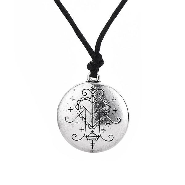 New Arrival Ezili Freda Voodoo Loa Veve Pendant Vodoun Lwa Love Talisman Jewelry Hoodoo Amulet Necklace Vintage Style