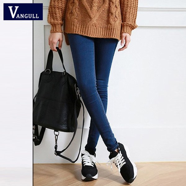 Wholesale- Hot Sale Skinny Jeans Woman Autumn New 2016 Pencil Jeans For Women Fashion Slim Ankle-Length Jeans Women's Printed Denim Pants