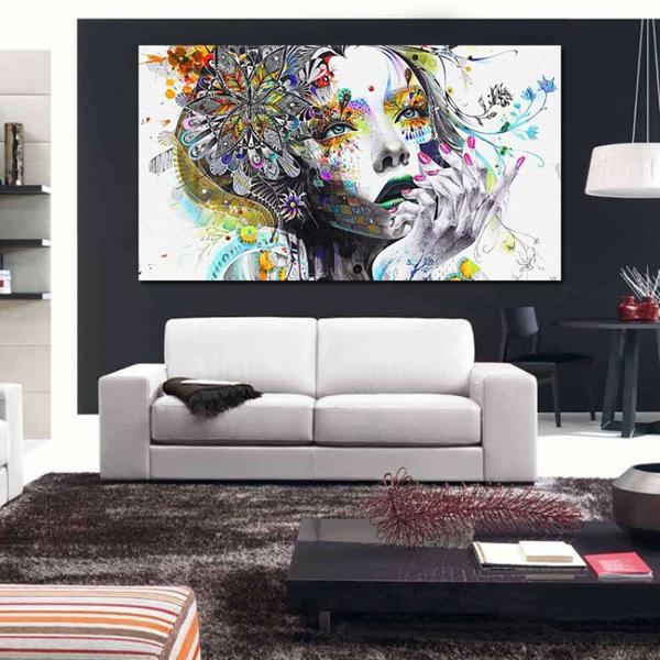 Belle fleur fée HD impression peinture sur toile figures abstraites peinture à l'huile moderne mode maison mur art décoration photo