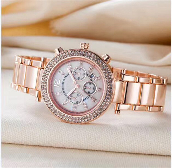 reloj watch ladies luxury top Brand fashion dress elegant designer Women Watches Diamond Rose Gold Bracelet crystal date day quartz clock