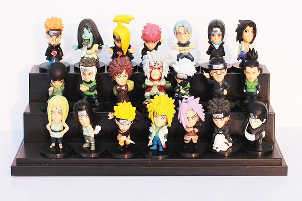 21pcs/set Japanese Anime Naruto PVC Action Figure Toys Gaara Uzumaki Sasuke Orochimaru Figures 5~6cm Free Shipping
