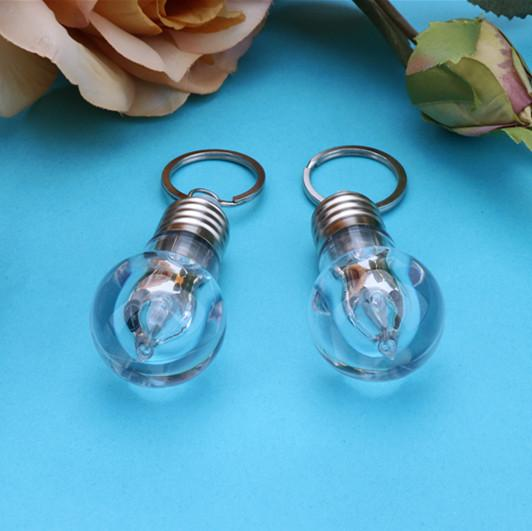 Creative Keychain bulb colorful Mini LED colorful lighting pendant small exquisite small gifts and toys