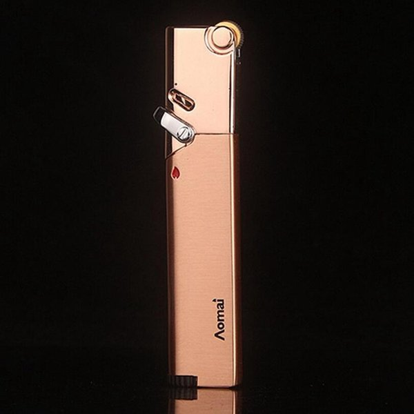 All'ingrosso-SWSMOK accendino antivento ricaricabile butano butano a gas fiamma fiamma di saldatura della cucina accendino gadget per sigaretta NO GAS