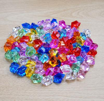 100pcs/Pack Acrylic crystal beads plastic color stone simulation ice tank aquarium water culture green plant decoration particles