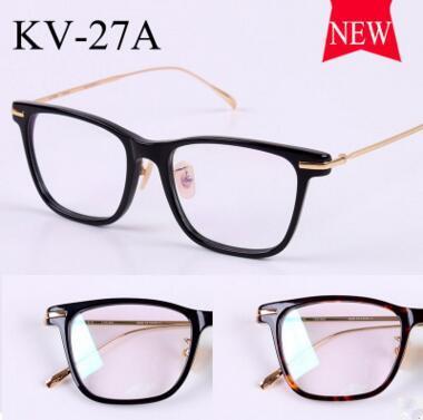 2017 gold glass frame VINTAGE frames KV-27A male retro super light myopia flat using the new framework