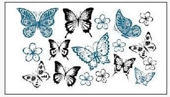 Atacado- (Min encomendar US $ 0.5) Tatuagem temporária para o homem mulher adesivos impermeáveis maquiagem maquiagem compõem tipos de borboletas tatuagem WM179
