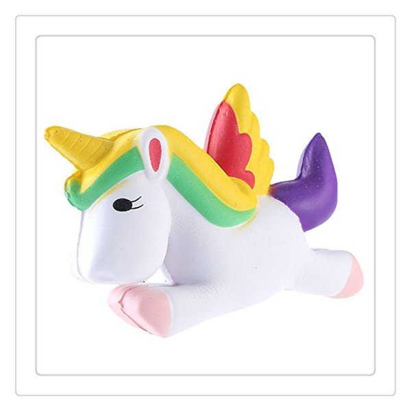 Wholesale Squishy Jumbo Unicorn Squishies Slow Rising Toys Phone Charm Straps Squishies Kids Toys Gift KeyChains Free Shipping