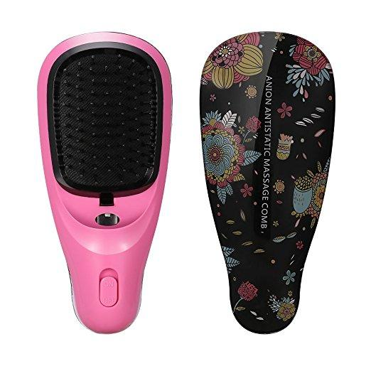 Free Shipping New Arrival Professional Detachable Ionic Vibrating Massage Travel Vibrate Electric Battery Hair Brush