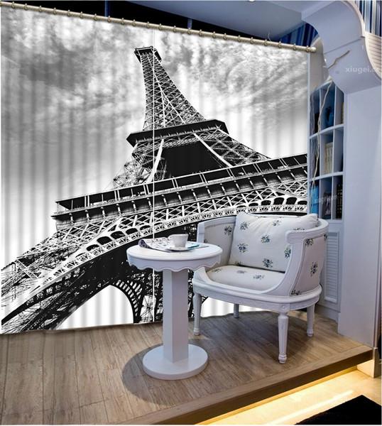 window curtains for living room black and white tower custom curtainn fashion decor home decoration for bedroom living room curtain