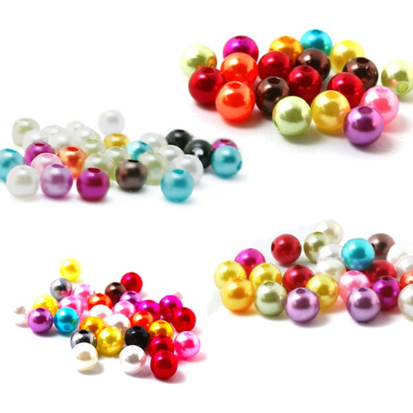 1000pcs 4mm 15 color, ABS Imitation Pearls Beads, Making jewelry diy beads, Jewelry Handmade necklace