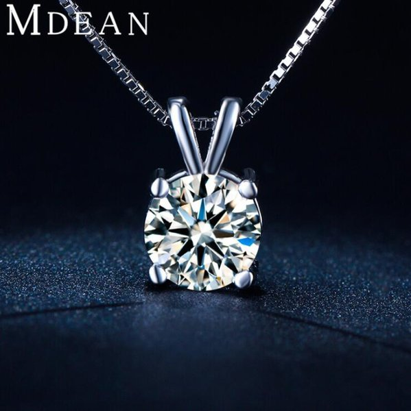 2016 New white gold plated suspension necklace Vintage wedding chain necklace Pendant necklace sterling-silver-jewelry for women GMSN002