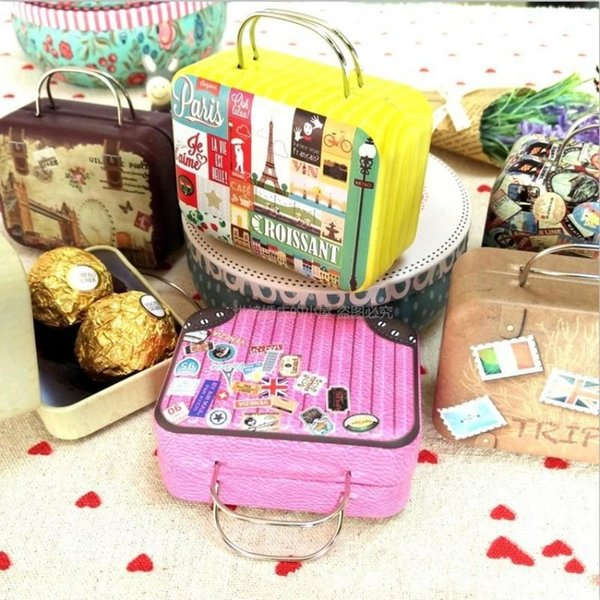 Retro valigia borse Originalità borsa di immagazzinaggio di imballaggio borsa La piccola scatola di caramelle avvolgere portamonete Produttori Forniture 2 7mp H R