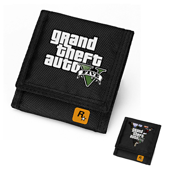 PC Game GTA5 Wallet for Teenagers Grand Theft AutoV Short Purse Black Men's Wallets Children Carteira