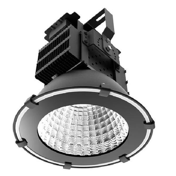 500W chip de reflector de alta potencia MEANWELL conductor impermeable led luz de inundación industrial reflectores lámpara de túnel de luz de alta bahía cálida Whit