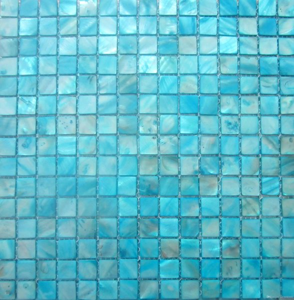 FREE SHIPPING Shell Mosaic Tiles, Blue Mother of Pearl Tiles, kitchen backsplash, bathroom wall flooring tiles