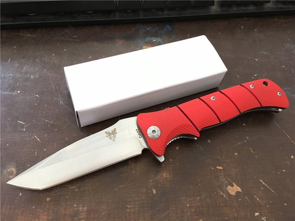BM feito em banco DA57 Survivla Flipper faca dobrável tático 3310BK BM42 BM43 BM46 BM46 BM47 BM49 faca RÁPIDA ABERTA