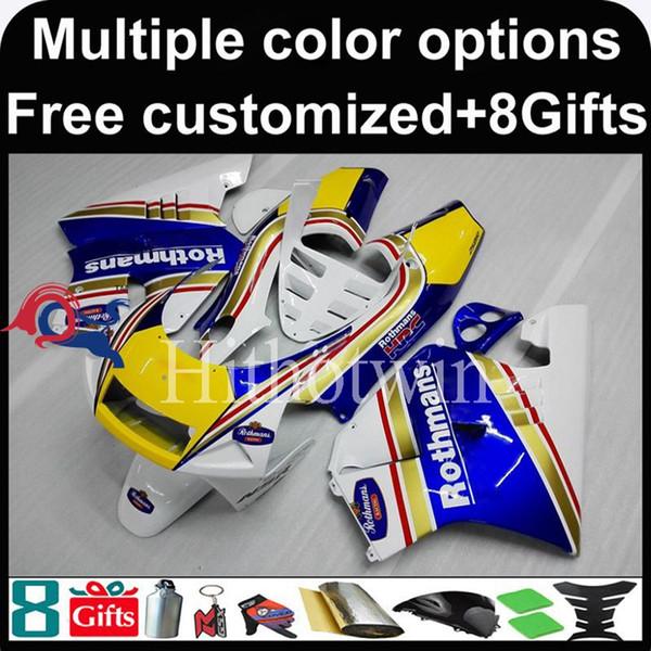 23colors + 8Gifts Carcasa de motocicleta kit amarillo azul Boda para HONDA NSR250R MC28 1994-1996 NSR250R MC28 94 96 carenado de plástico ABS