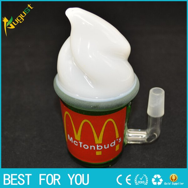 McDonald Cup Spritech Starbuck cup new style glass water pipe glass bongs for smoking pipe oil rig glass pipe Water glass bong pipe hookah
