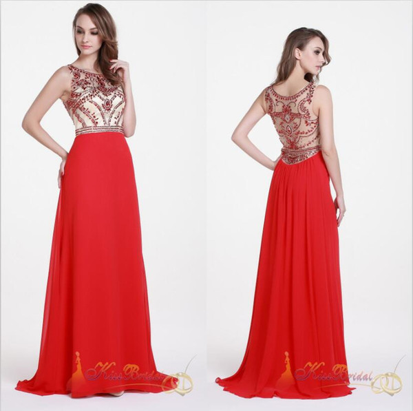 Red Beading Prom Dresses Cap Sleeves Backless Mermaid Long Chiffon Formal Party Dress Floor Length Evening Gowns