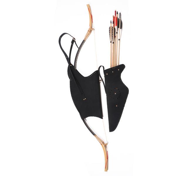 Faretra della freccia del supporto della borsa dell'arco della mucca della mucca per l'accessorio all'aperto di caccia dell'arco tradizionale di Recurve che spedice liberamente