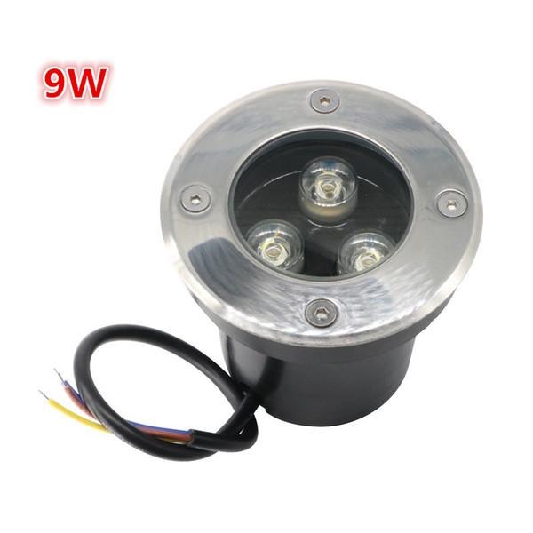 CEROHS Aprobación 9W 3 * 3W AC85-265V Impermeable IP67 Blanco cálido LED Luz subterránea Luz subterránea Cambio de color al aire libre LED enterrado Uplight
