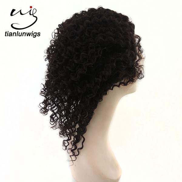 wholesale 10inch kinky curl natural color short hair wig black women full lace indian remy hair wigs