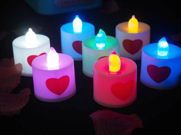 Plastic electronics factory direct wholesale props Valentine's Day marriage proposal confession birthday candle lamp luminous romantic weddi