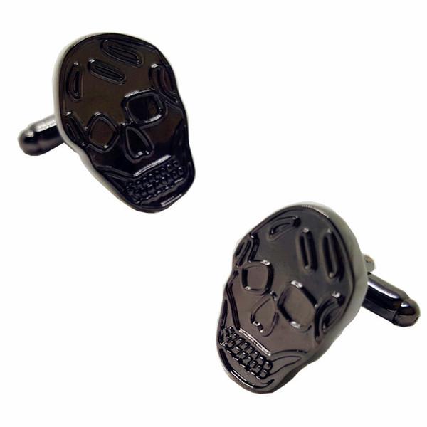 Siyah kafatası mens yüksek kalite fransız gömlek için kol düğmeleri yenilik kol düğmesi kol düğmeleri hediyeler 10 pairs 346