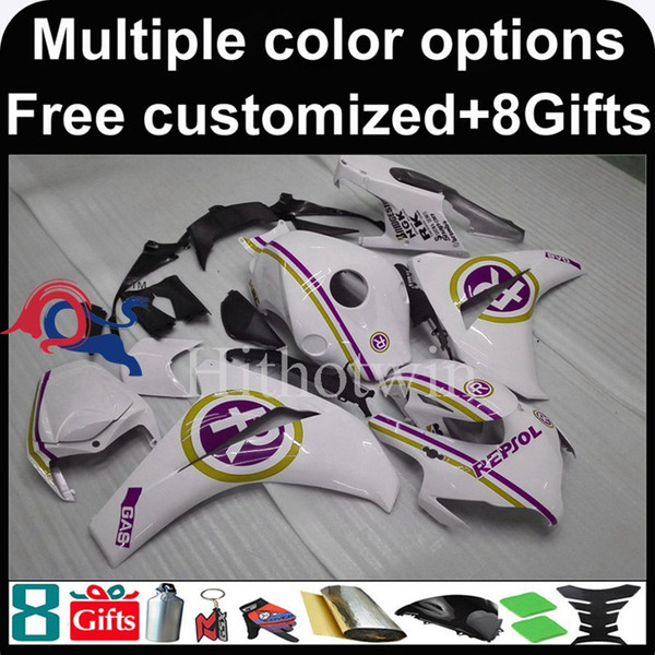 23colors+8Gifts repsol white Boda kit motorcycle cowl for HONDA CBR1000RR 2008-2011 CBR1000RR 08 11 ABS Plastic Fairing