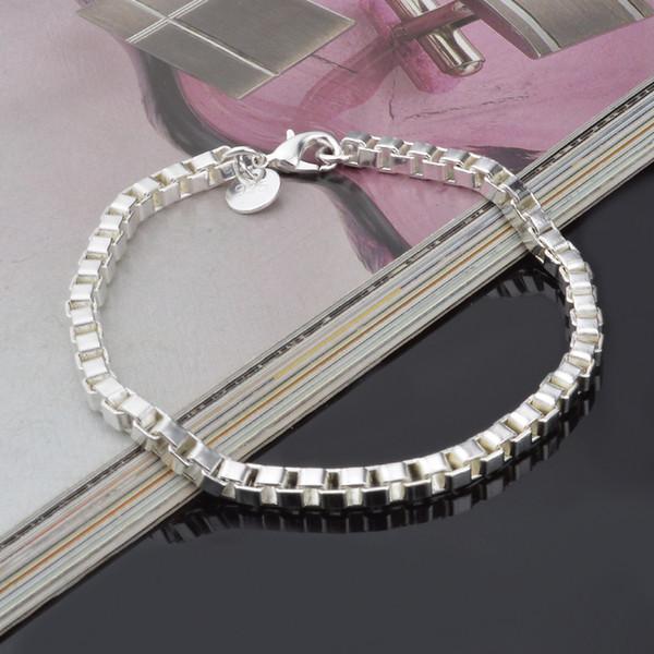 Alta qualidade 925 pulseira de corrente de prata esterlina 2016 legal street style moda jóias presentes de Natal preço baixo frete grátis!