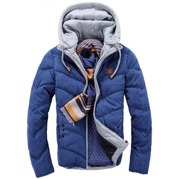 Wholesale- Top Sale 2016 Winter Cotton Jacket Men Thermal Winter Overcoat Fur Hooded Coat For Men Women Lovers Thickening Casual Coats