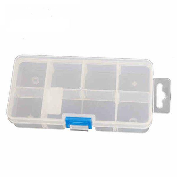 Vente en gros- 7 Grilles Transparent Boîte À Outils En Plastique Boîte De Rangement De Composant Électronique Avec Les Plateaux De Compartiment Caja De Herramientas