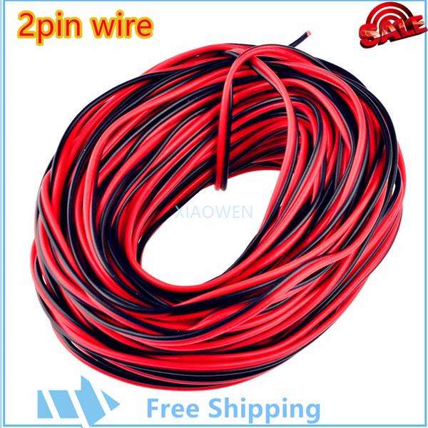 Großhandel 2 Pin rot schwarz Kabel Draht 10 Meter 22AWG, PVC ...