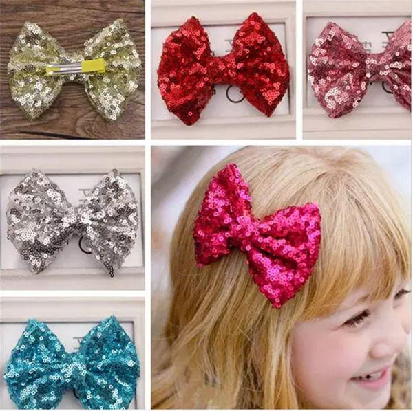 Baby Sequin Hair Bows Girls Ornaments Girls Blingbling Headbands Accessories Girls Cute Flower The Little Baby Headbands Kids Hair Ribbons