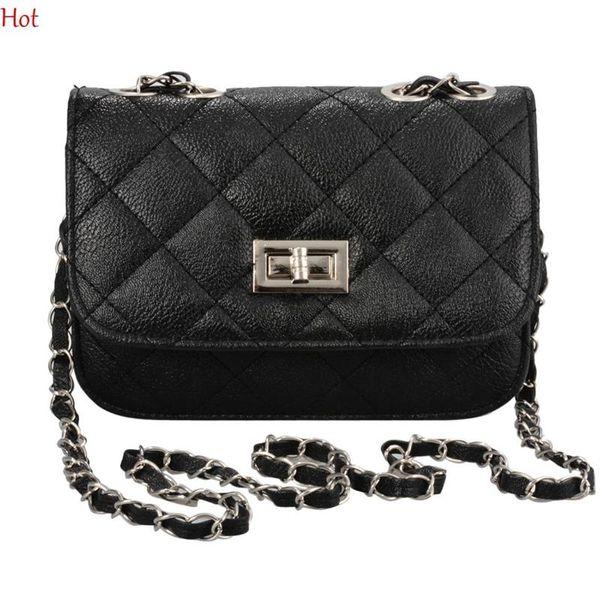 Wholesale- Brand Fashion Woman Bag Ladies Luxury Pu Leather Handbag Chain Shoulder Bag Plaid Women Crossbody Bag Beige Yellow Hot SV002316