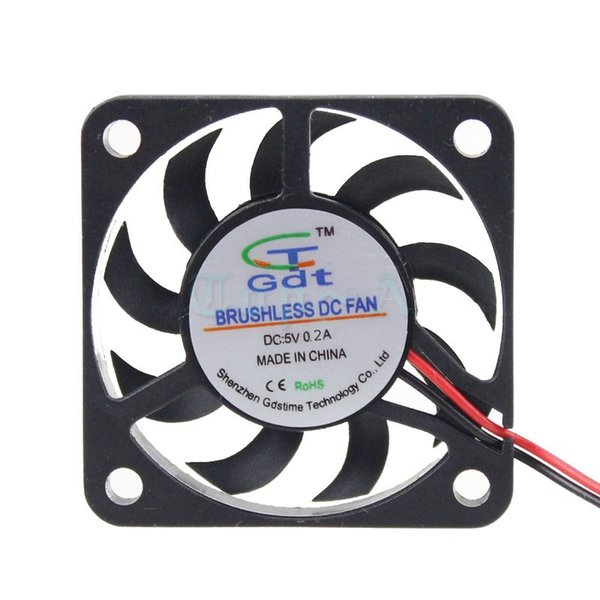 Wholesale- Gdstime 2pcs Small Mini Cooling Fan 40x40x7mm 40mm 4cm 5V 2 Pin 6500RPM Cooler Free Shipping