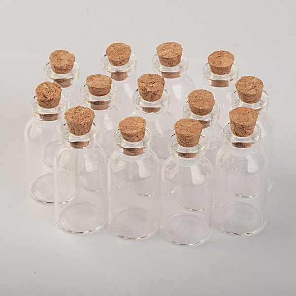 small glass jars with Wood lid 18*40*7mm 5ml Mini empty glass bottles glass vial 100pcs/lot Free Shipping