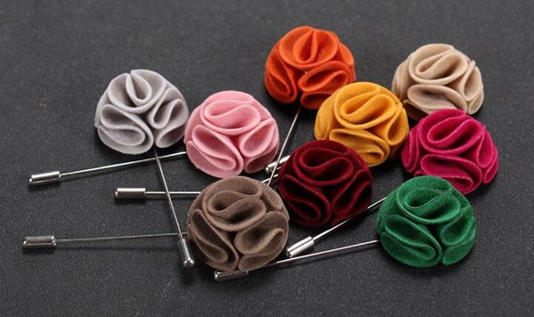 Round bouquet flowers brooches pins pure handmade double deer velvet corsages suit dress brooch for wedding party gifts