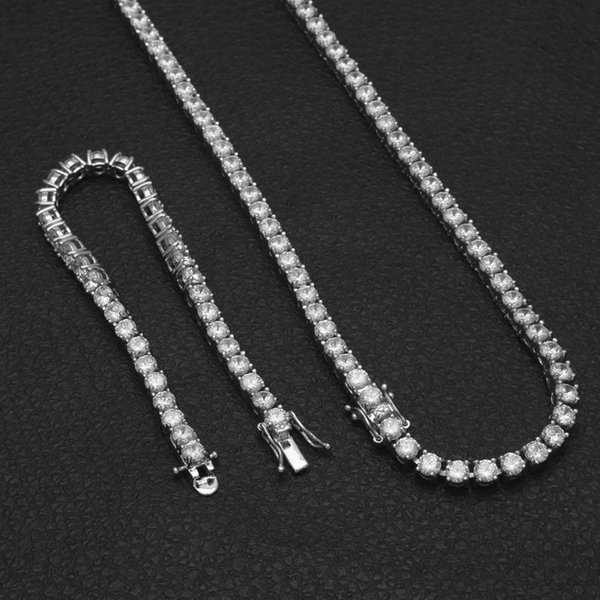 20''silver necklace+8''bracelet