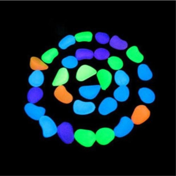 Glow in the Dark Stone Artificial Lightweight Luminous Pebble Stone For Home Fish Tank Decor Garden Corridor Swimming Pool Decorations Fast