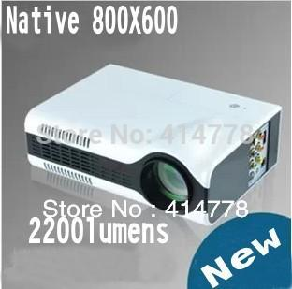 Оптово-Бесплатная доставка Native 800X600 новый HD домашний кинотеатр Пико-проектор, карманный портативный мини-светодиодный прожектор 2200 люмен