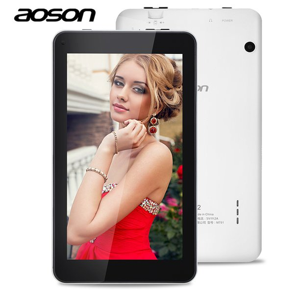 Wholesale- High Quality Aoson M751 7 inch HD IPS Sreen Tablet PC Android 5.1 Quad Core Dual Cameras 8GB ROM 1GB RAM Bluetooth WIFI G-sensor